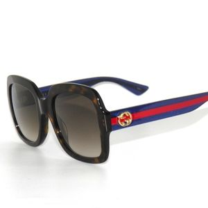 3a75283b81c Gucci 0036 004 Havana Blue Glitter Red Sunglasses